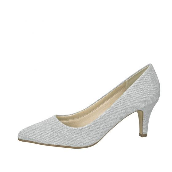 Rainbow Club Brautschuhe Brooke silver metallic III  6 = 39 1/3