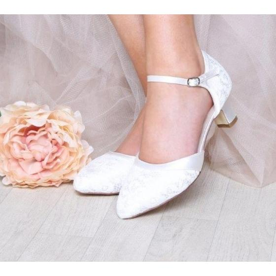 Ingrid Spitze ivory EXTRA SOFT gepolstert (Brautschuhe Perfect Bridal)
