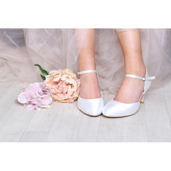 Elsa WIDE FIT Satin ivory - extra soft gepolstert (Brautschuhe Perfect Bridal)