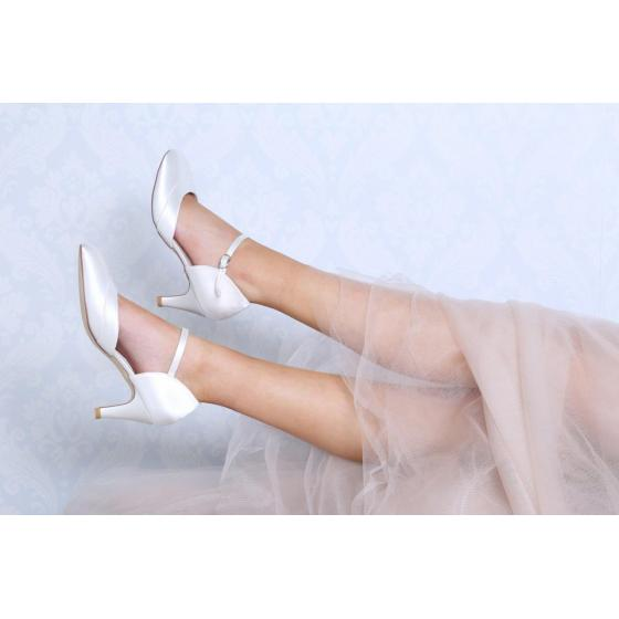 Elsa WIDE FIT Satin ivory EXTRA SOFT gepolstert (Brautschuhe Perfect Bridal) 42