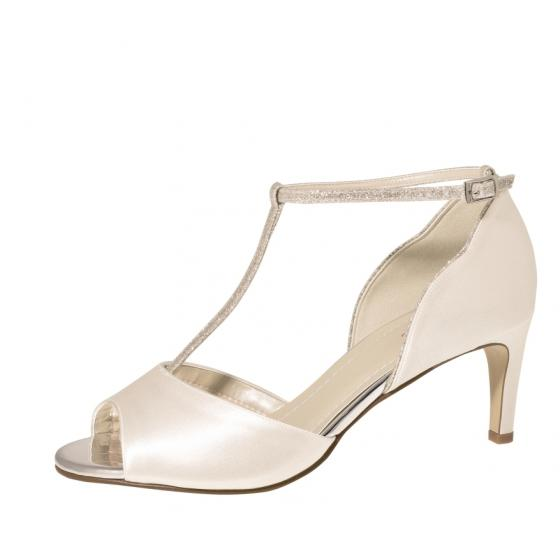 on sale 4eef9 d03ad Rainbow Club Brautschuhe Yill ivory