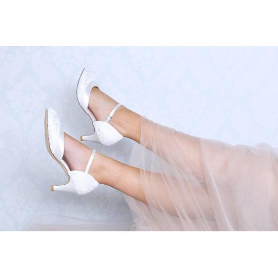 Elsa WIDE FIT Lace ivory - extra soft gepolstert (Brautschuhe Perfect Bridal)