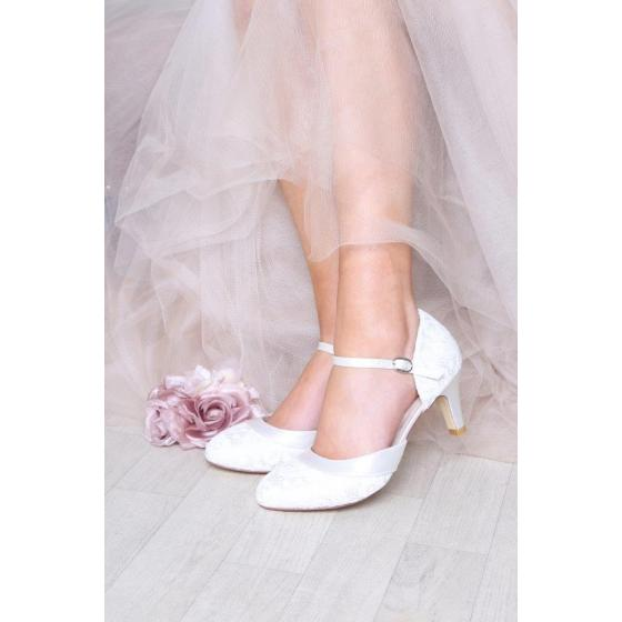 Elsa WIDE FIT Lace ivory - extra soft gepolstert (Brautschuhe Perfect Bridal) 40