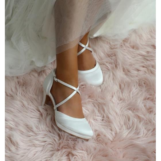 Brautschuhe (Perfect Bridal) Isobel Satin ivory