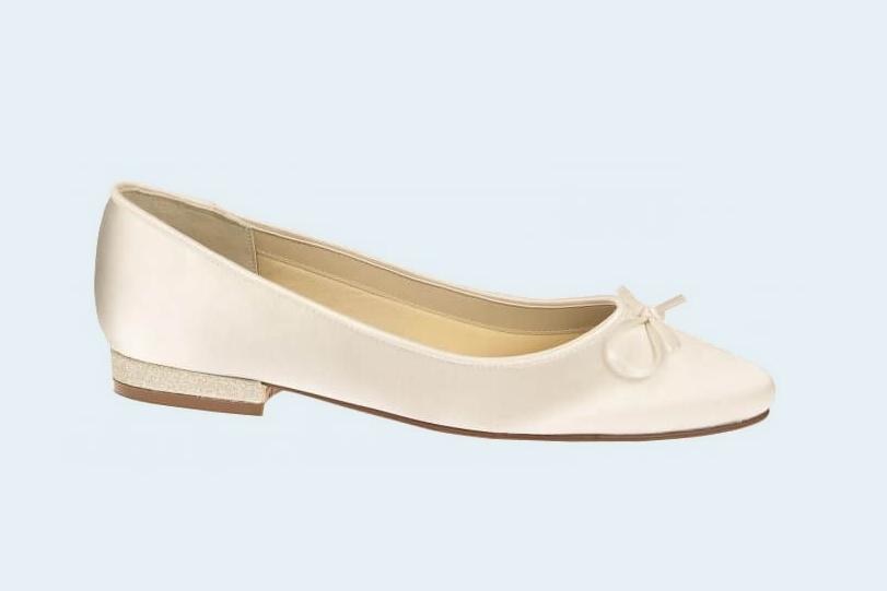 Brautschuhe Ivory Flach